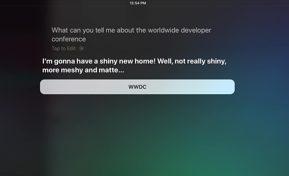 Siri talks about getting a new voice and a new home.