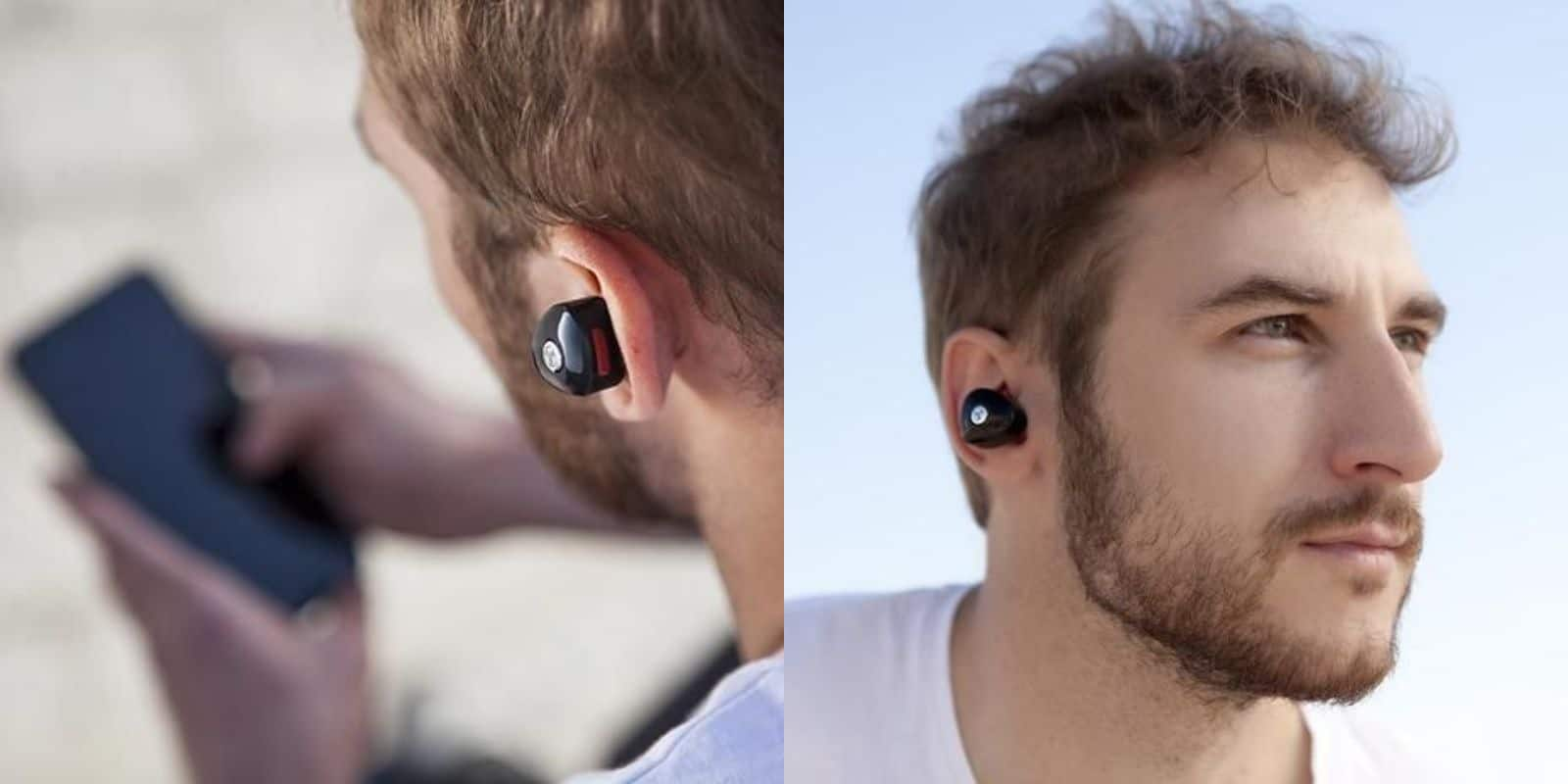 These wireless earbuds are a nice mix of high tech and understated design.