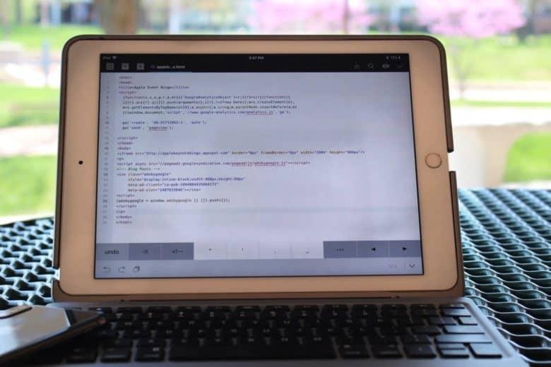 Coda html code editor iPad