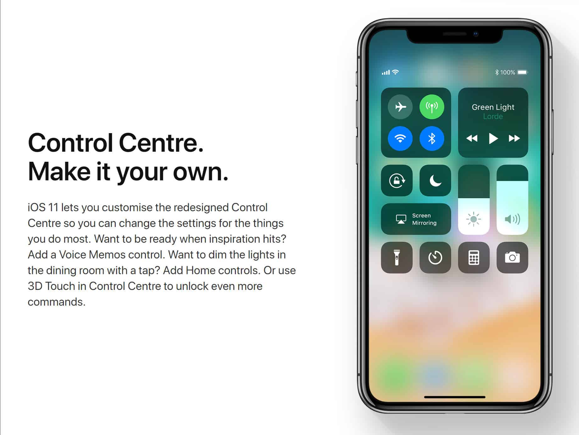 Apple always capitalizes Control Center wherever it's