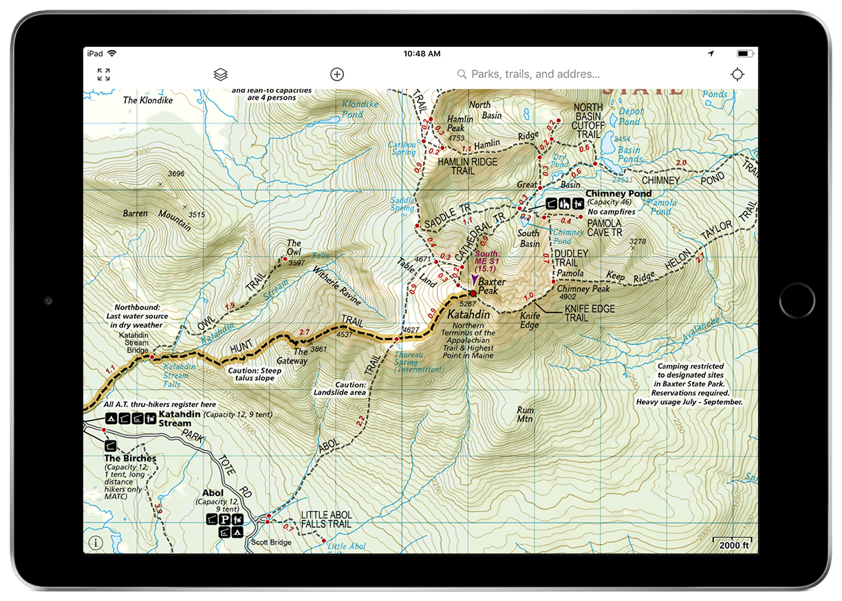 NatGeo Appalachian Trail Map gaia