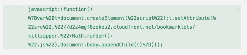 Killzapper Javascript code