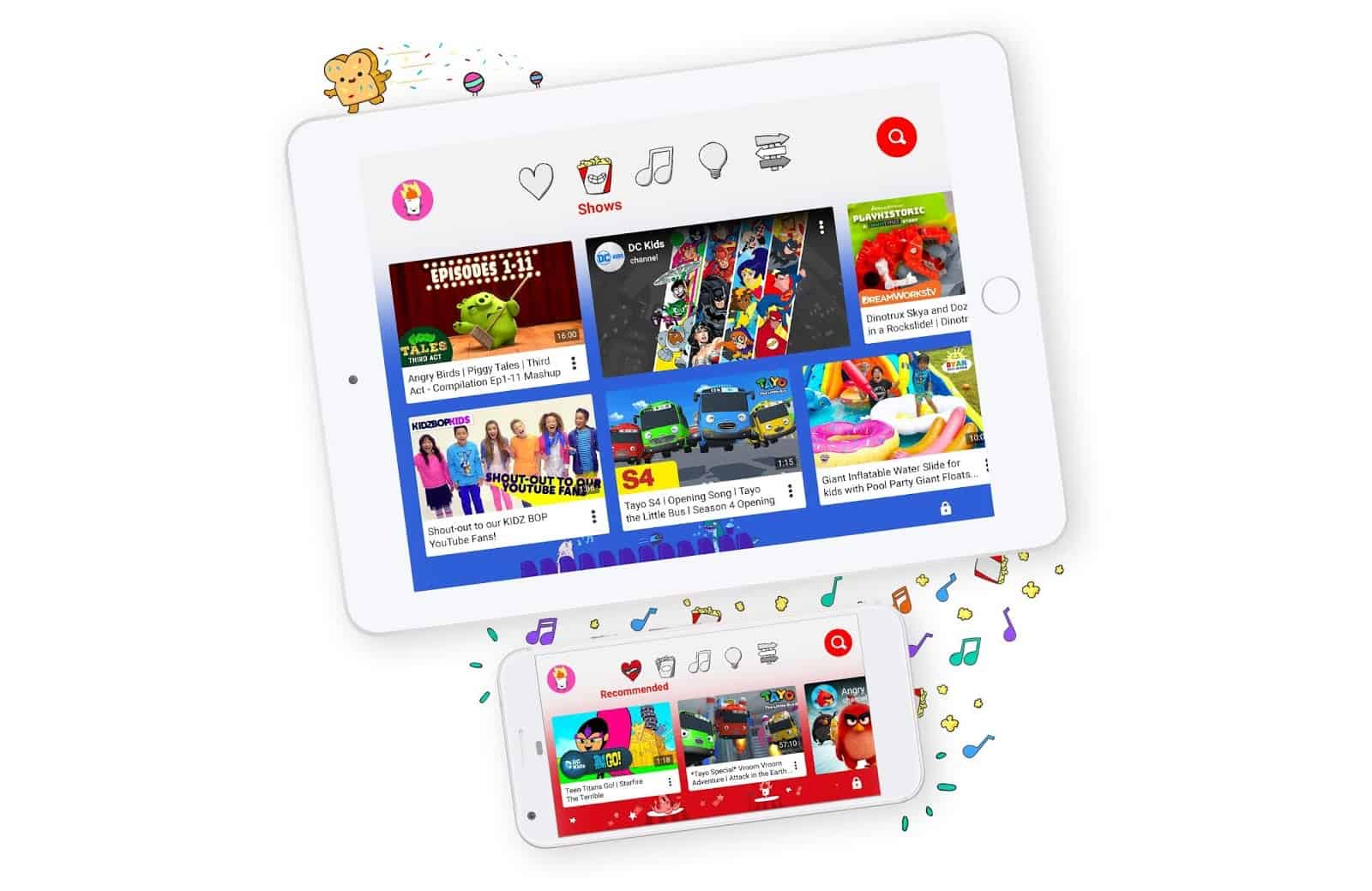 YouTube Kids app.