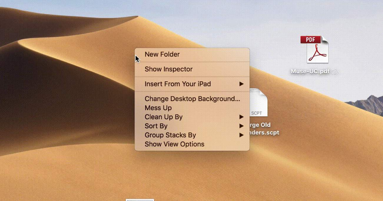 macOS Mojave Mess Up easter egg
