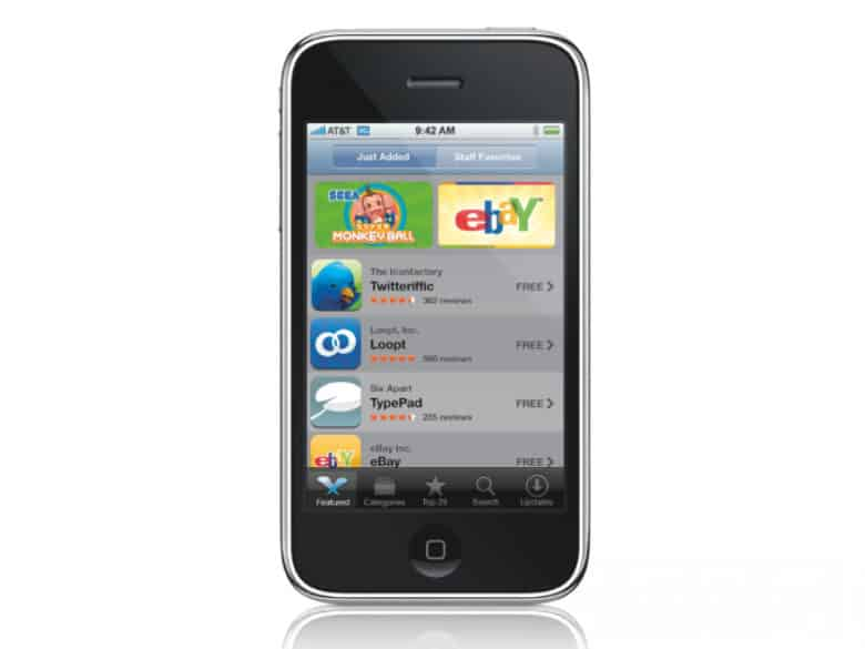 App Store on iPhone 3GS