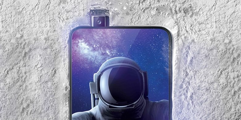 The Oppo Find X features pop-up front and rear cameras