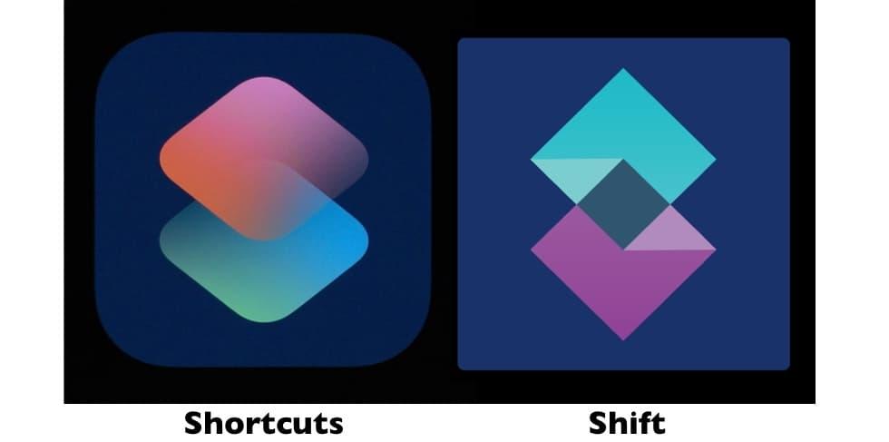 Apple Shortcuts vs. the Sift logo