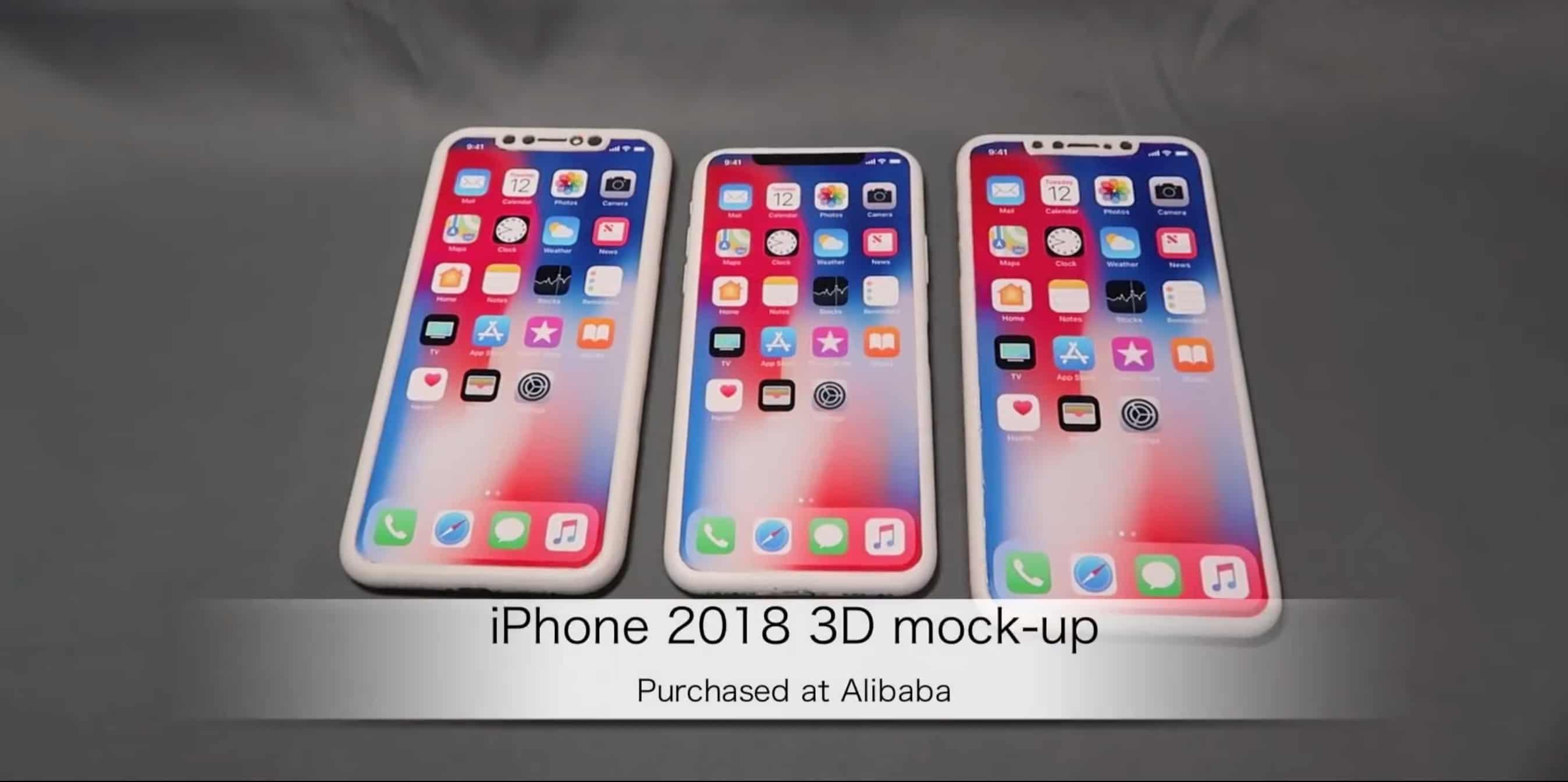 2018 iPhone rumors 3D mockups