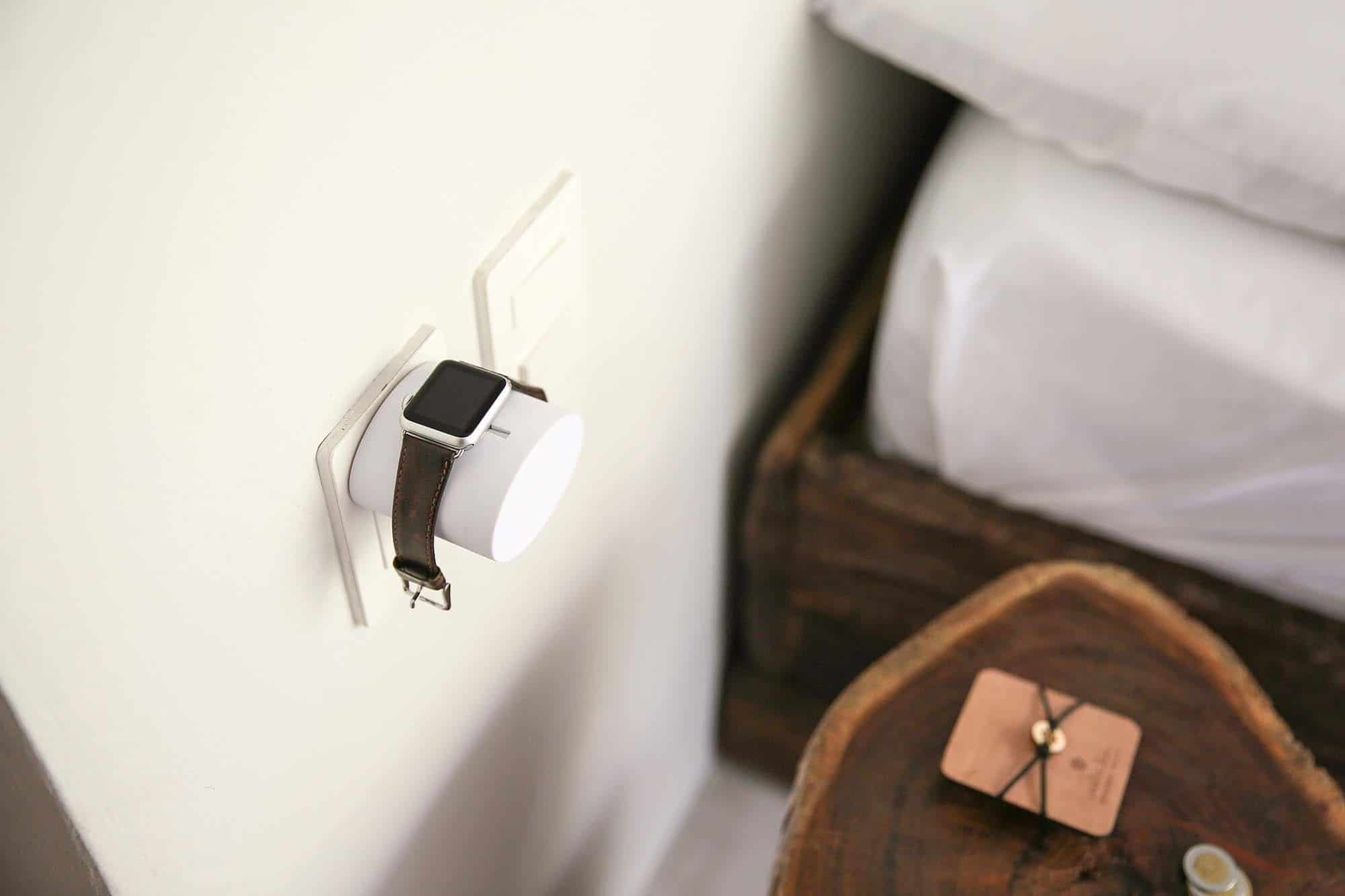 Power up Apple Watch with this on-the-wall charging stand
