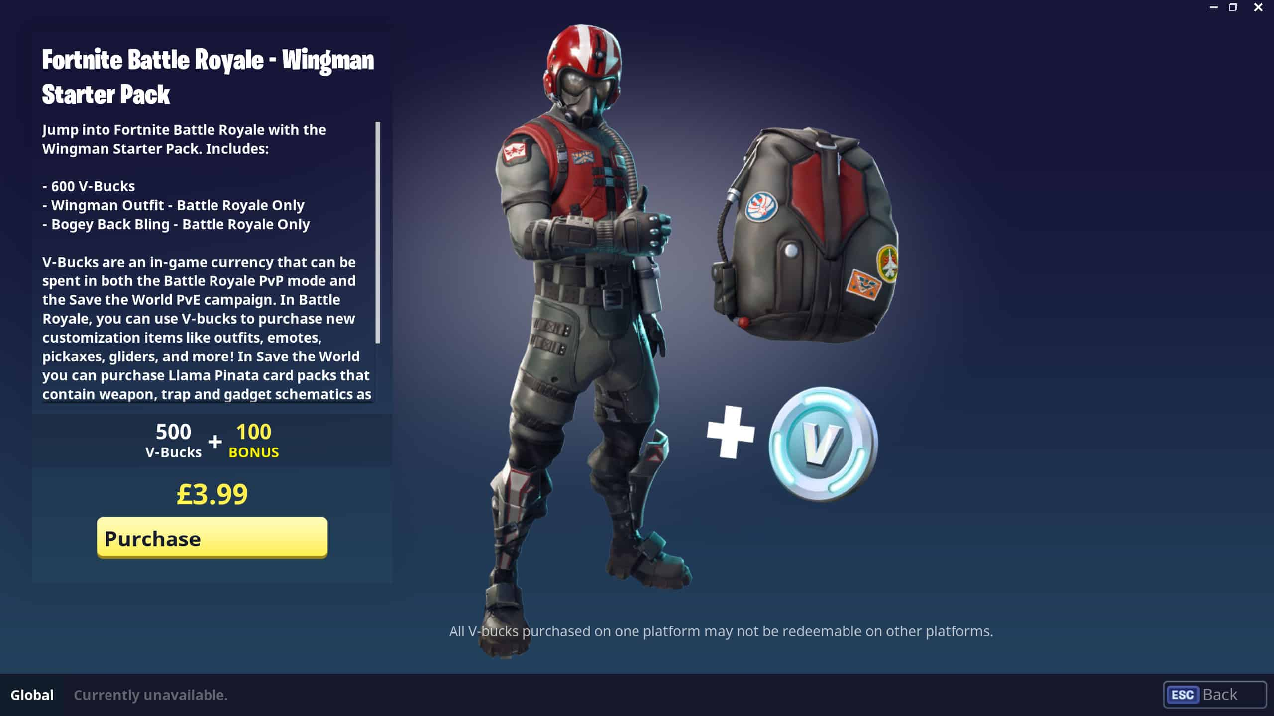 Fortnite Wingman Starter Pack