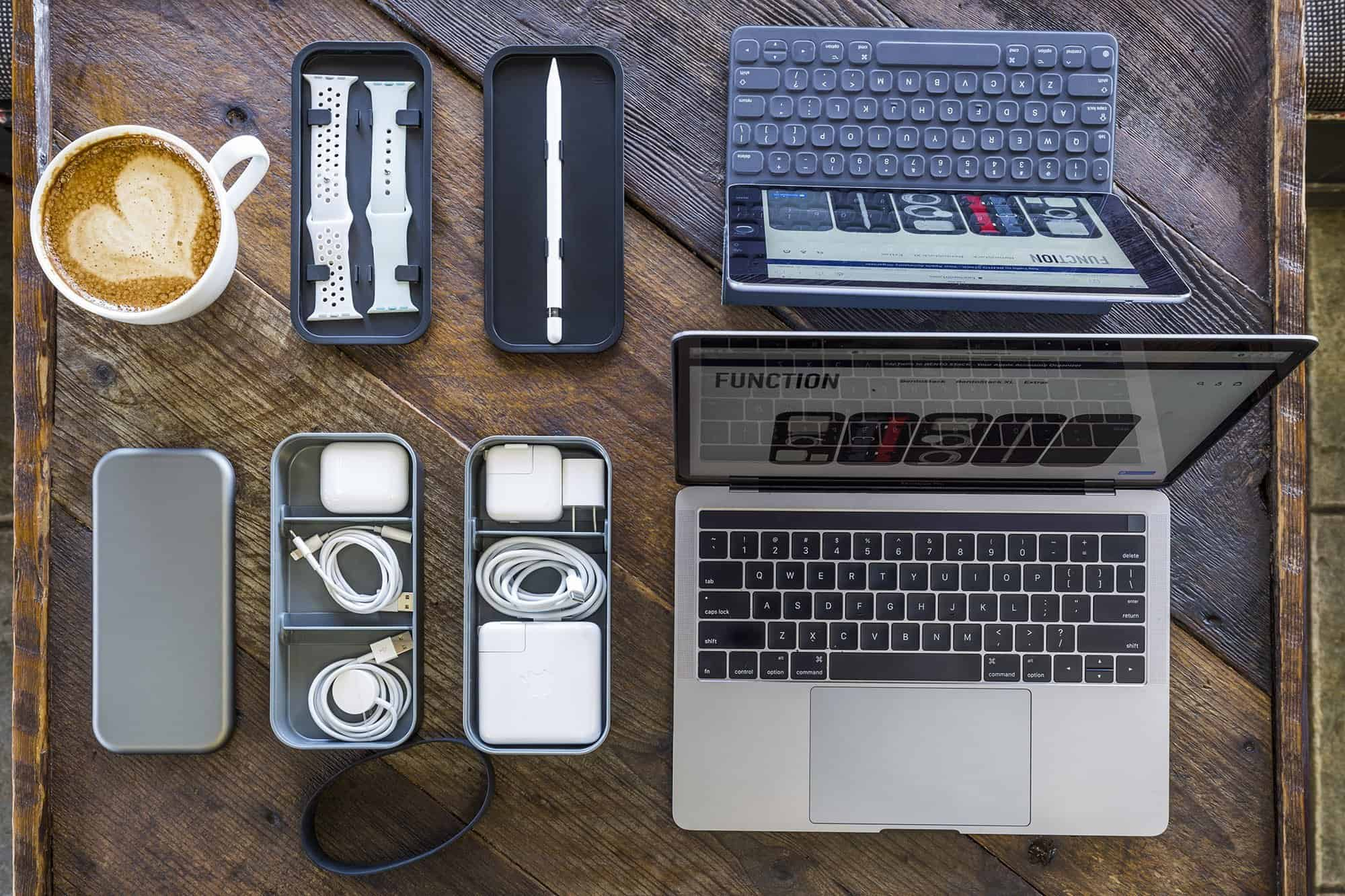 BentoStack: Your Apple extras stay orderly in this sleek, modular organizer inspired by Japanese design