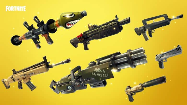 Fortnite gold weapons