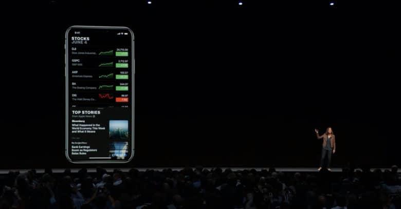 Stocks iOS 12