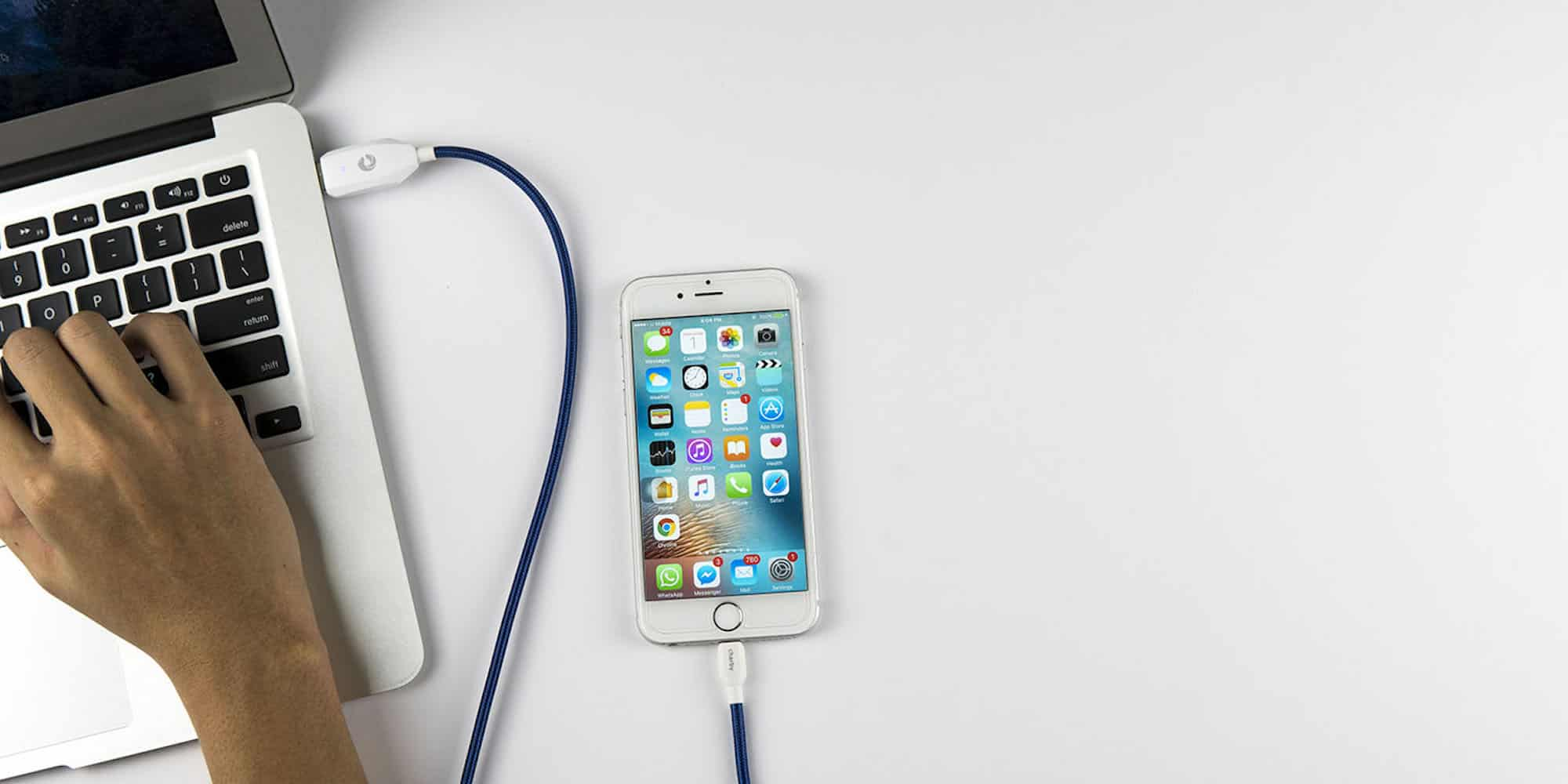 This smart charging cable automatically cuts off power when your phone is charged, extending its battery life.