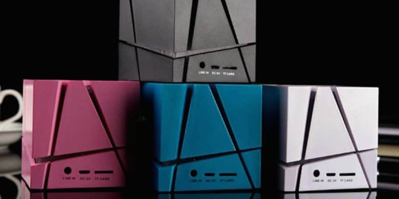The Cube Speaker looks cool and sounds great, perfect for your futuristic dance parties.