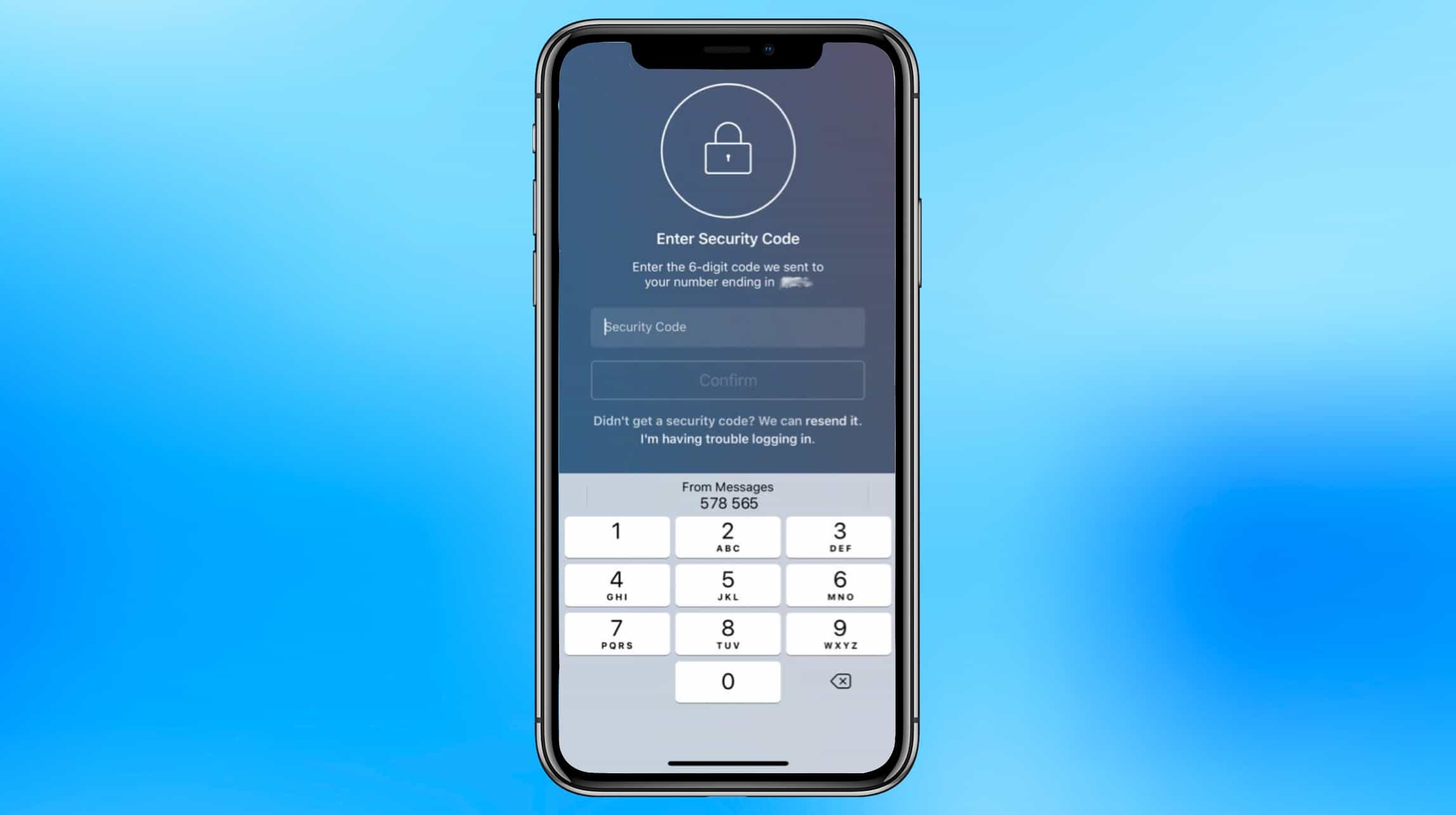 iOS 12 makes two-factor authentication easy.
