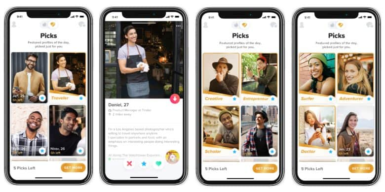 Tinder Picks currently only for iPhone
