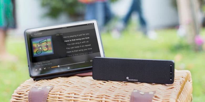 Despite its slim profile, this compact Bluetooth speaker is big on sound.