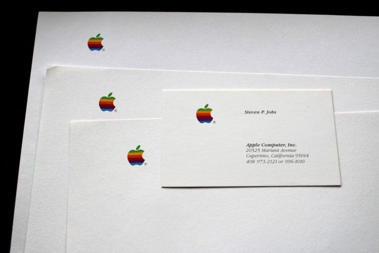 Steve jobs business cardand letterhead for sale on ebay this steve jobs business card is a pricey addition to your rolodex colourmoves