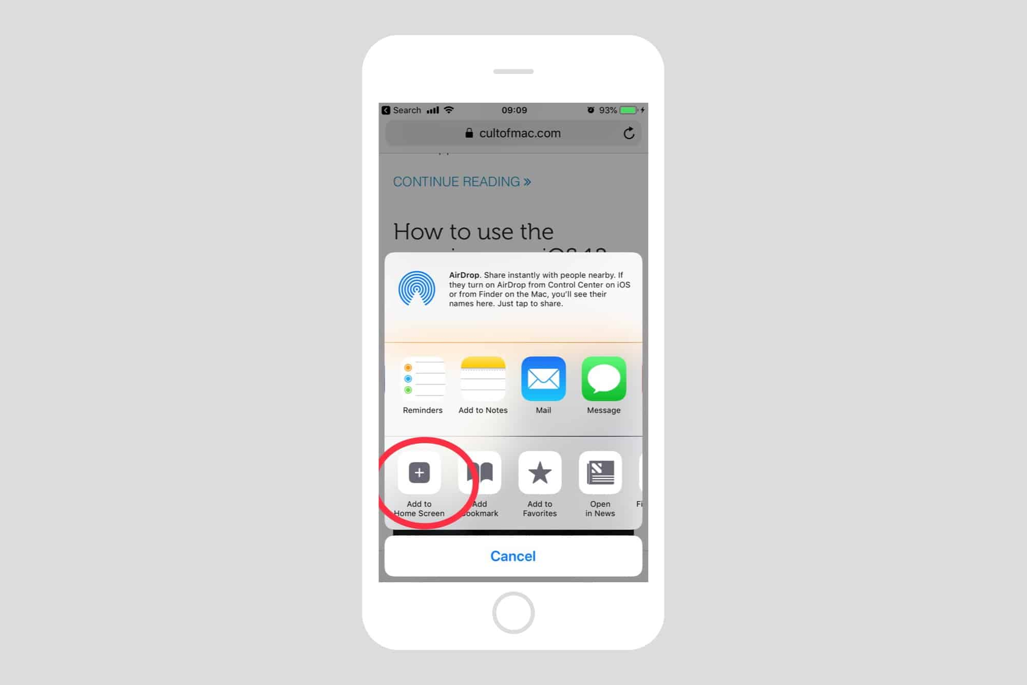 How to add bookmarks to your iPhone home screen | Cult of Mac