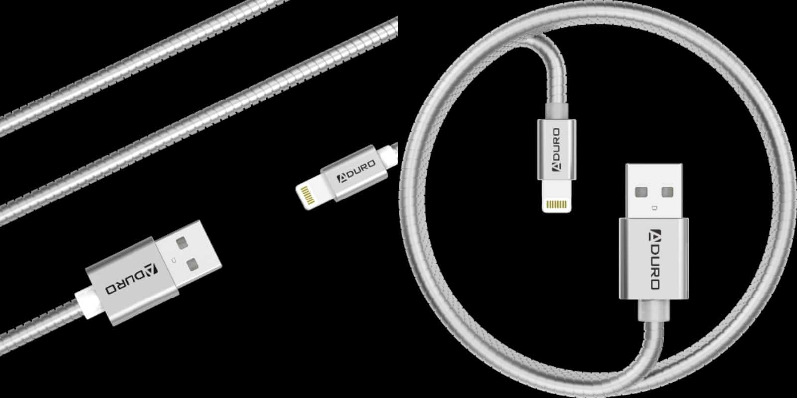 This metal-reinforced Lightning cable adds extra life and length to your iDevice's lifeline.