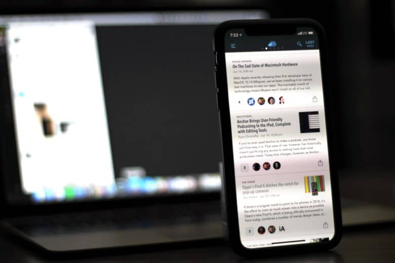Nuzzel news feed on iPhone