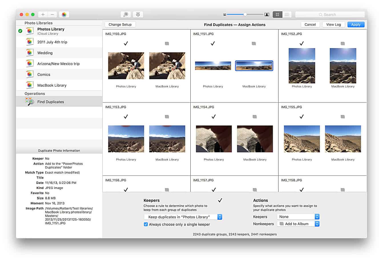Find duplicate photos on your Mac the easy way with PowerPhotos Mac app.