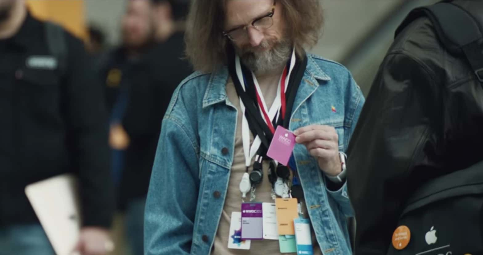 Self-deprecating humor rules in the Apple WWDC 2018 video about developers.