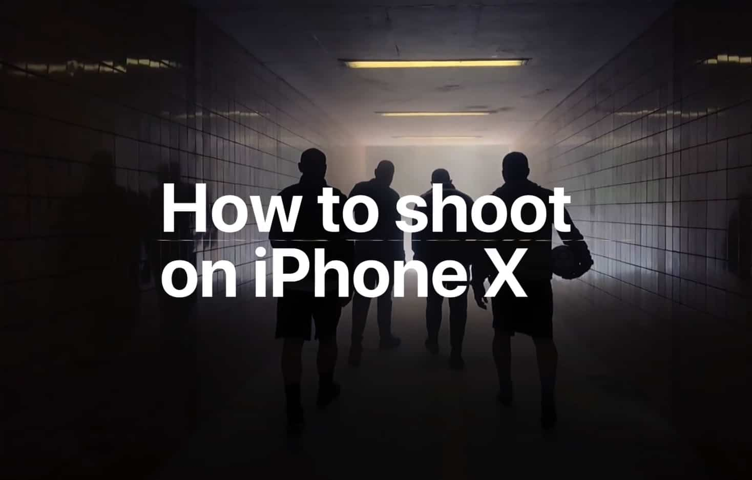 shoot on iPhone X