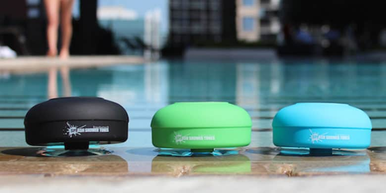 Can't get away from your shows and tunes? Bring them into the shower with you thanks to this waterproof Bluetooth speakers.