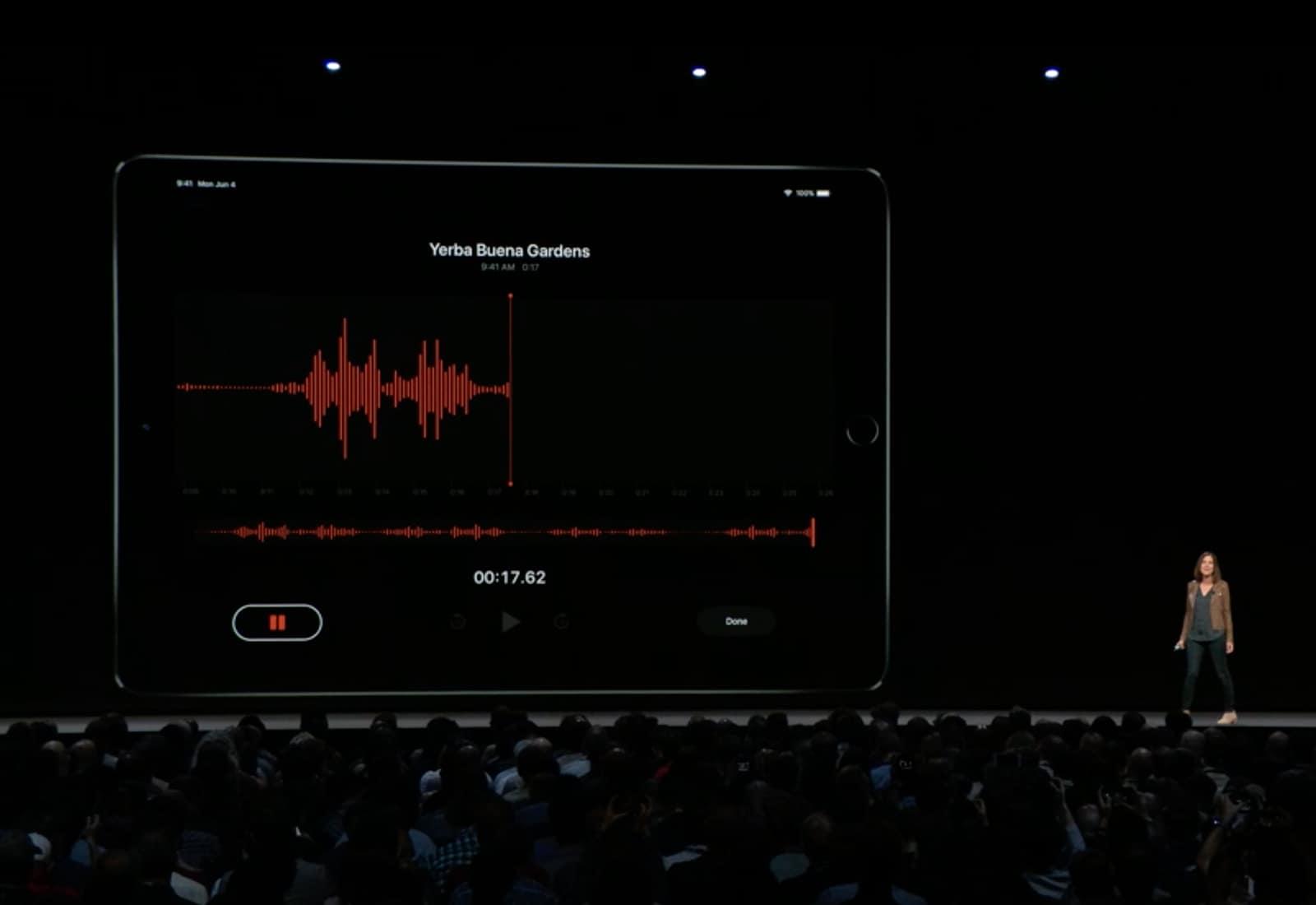 Voice Memos iPad
