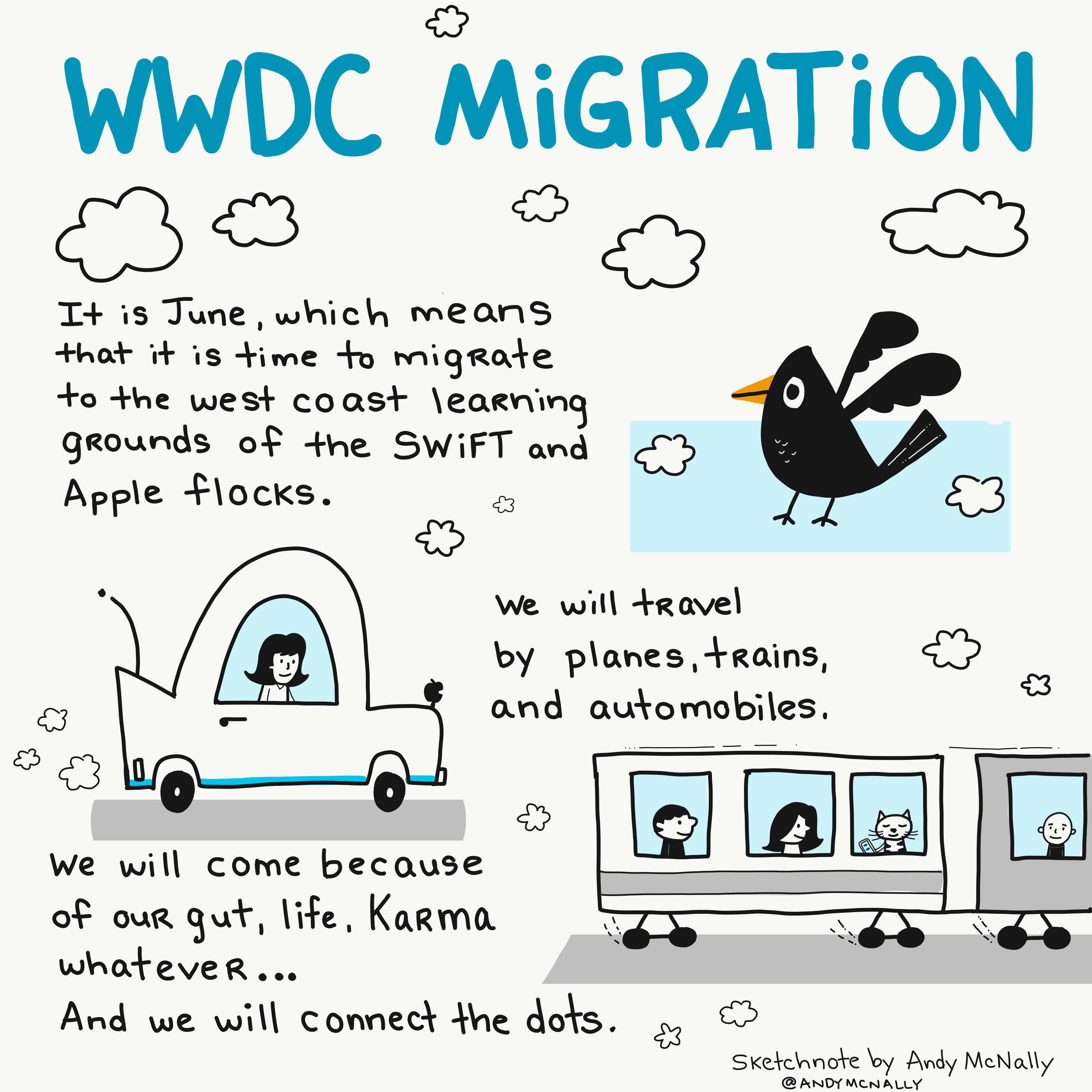 WWDC migration sketchnote