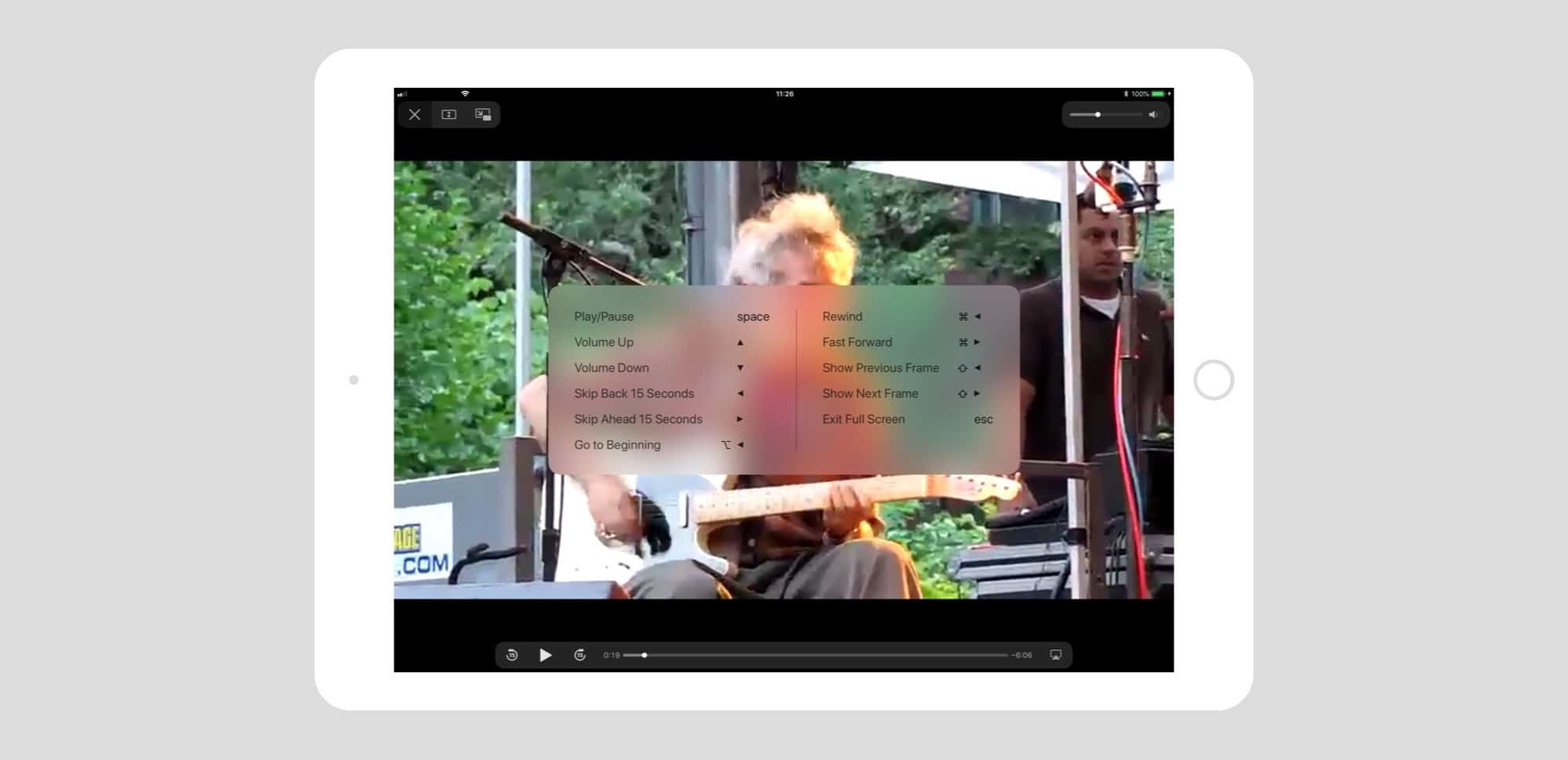 Pro Tip: How to control the iPad video player with keyboard