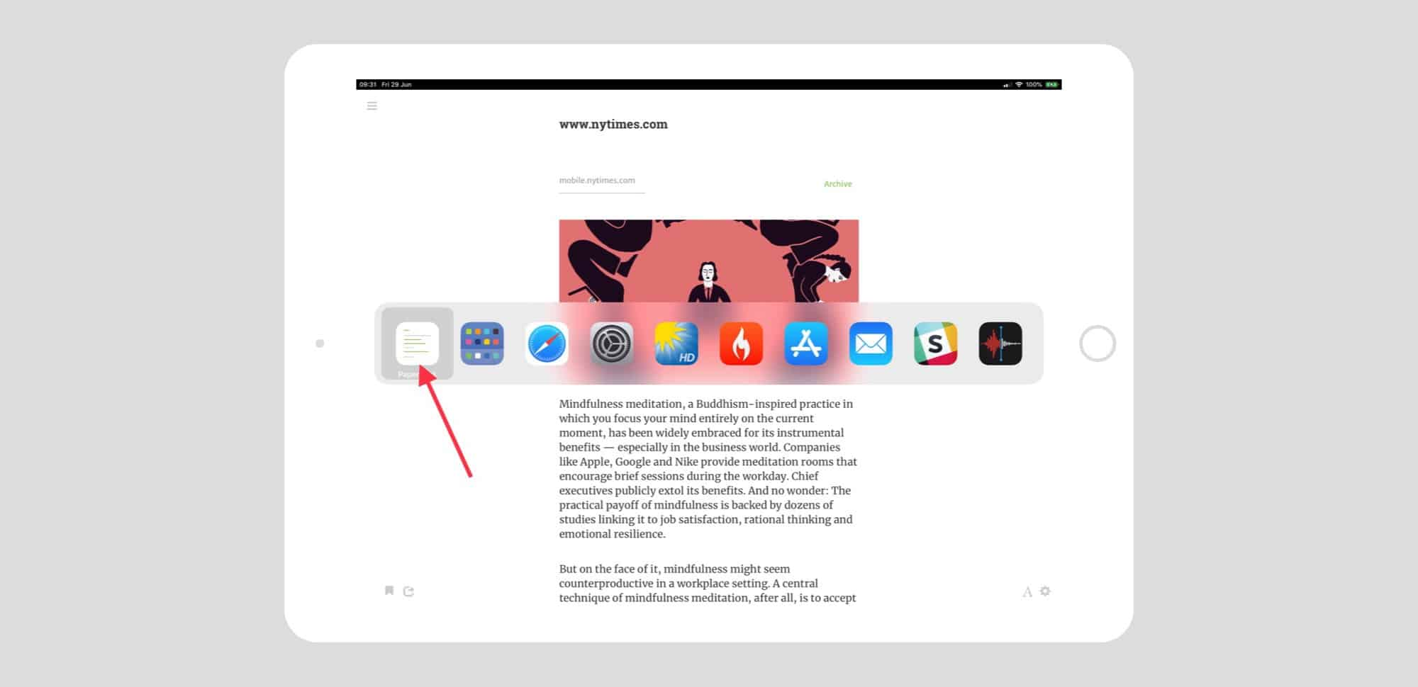 Paperback is a bookmarked website, right there in the App Switcher!