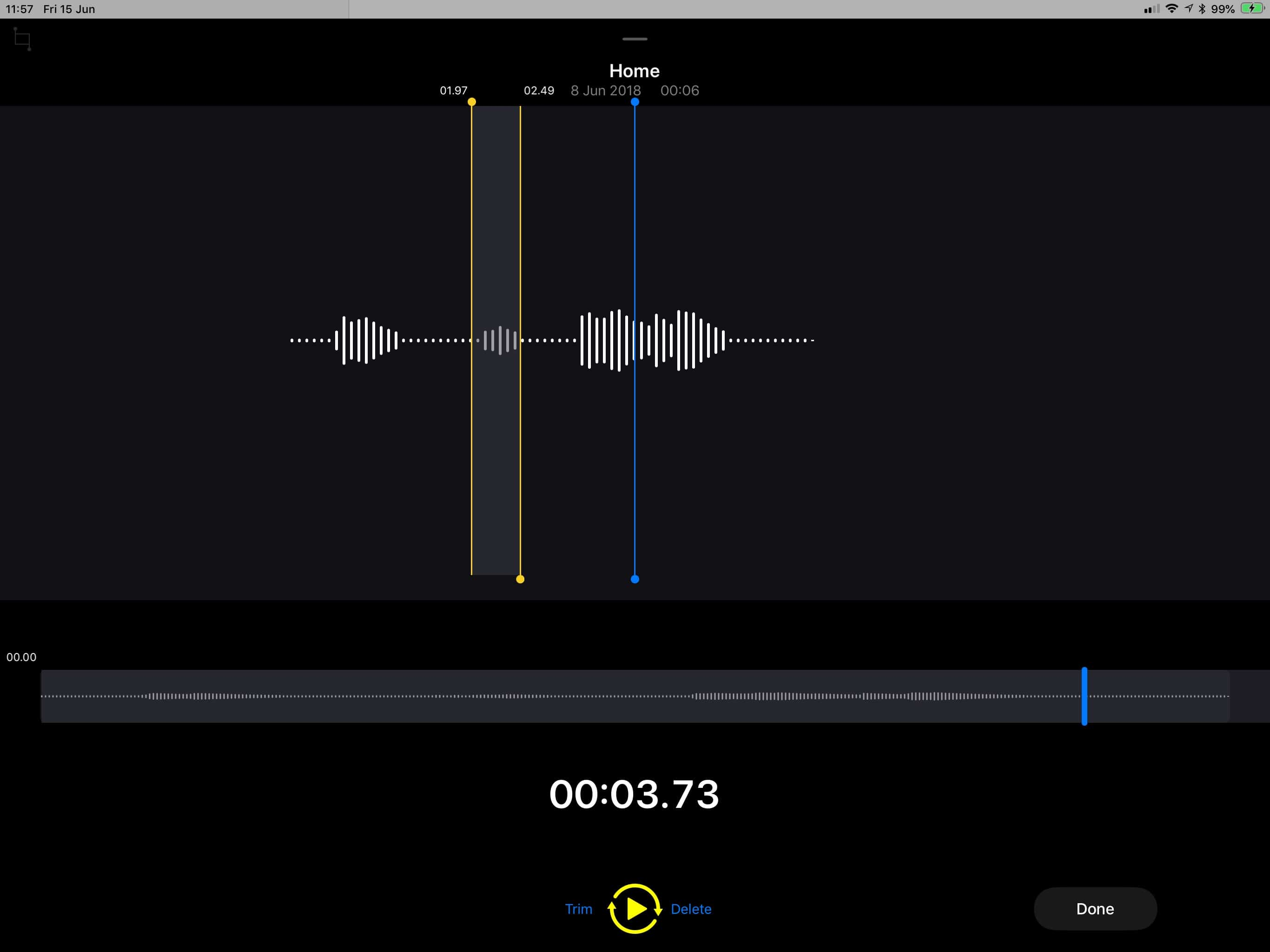 Voice memos on iPad!