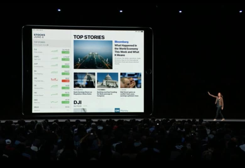 stocks on ipad_WWDC18