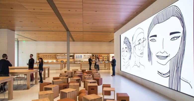 A look inside Apple's new store.