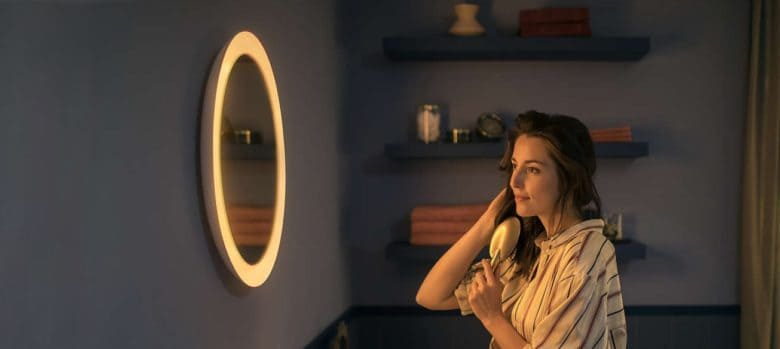 The Philips Adore bathroom mirror can e controlled through Apple's HomeKit home automation.