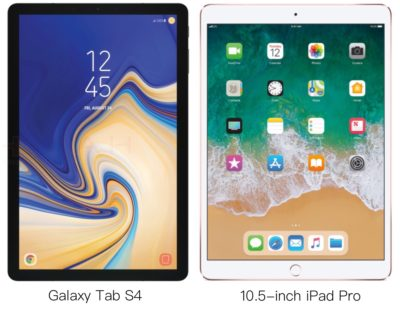 Galaxy Tab S4 vs iPad Pro