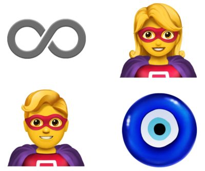 New Apple emoji include superheroes and the all-seeing eye.