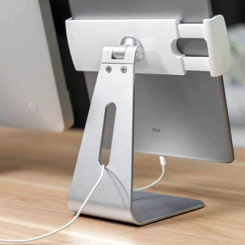 Sturdy and stylish, the AboveTek iPad stand is super-adjustable.