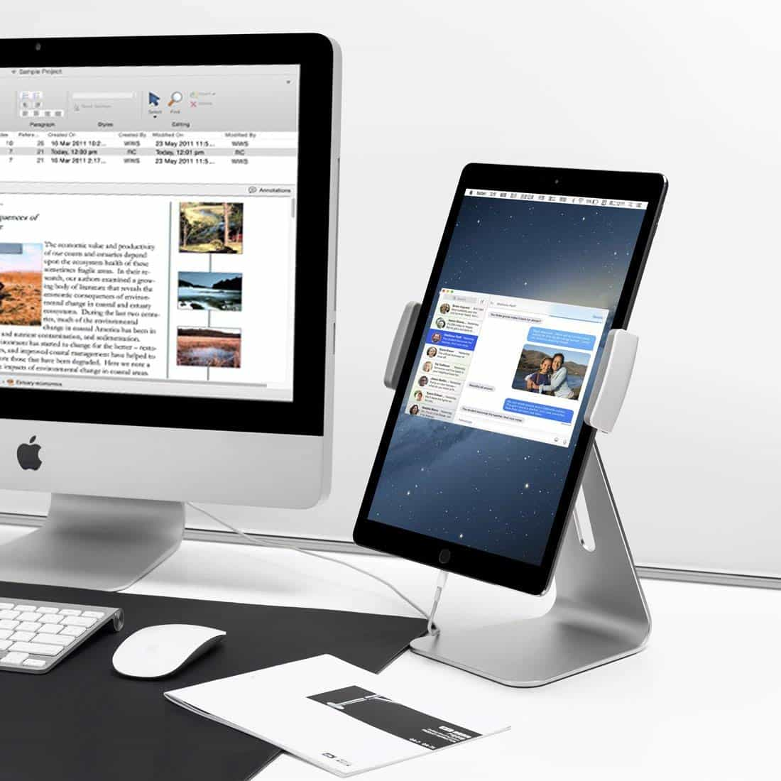 The AboveTek iPad stand really does look like a mini iMac.