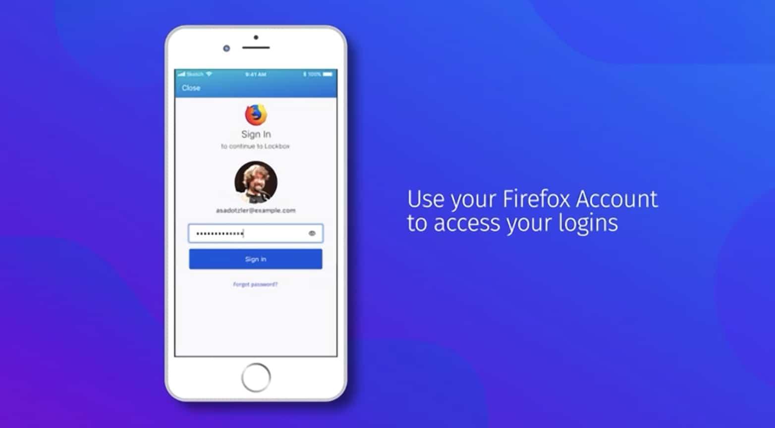 Firefox Lockbox app for iOS