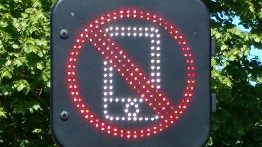 UK Street signs watching for motorists using their phones are being tested .Big Brother anyone?