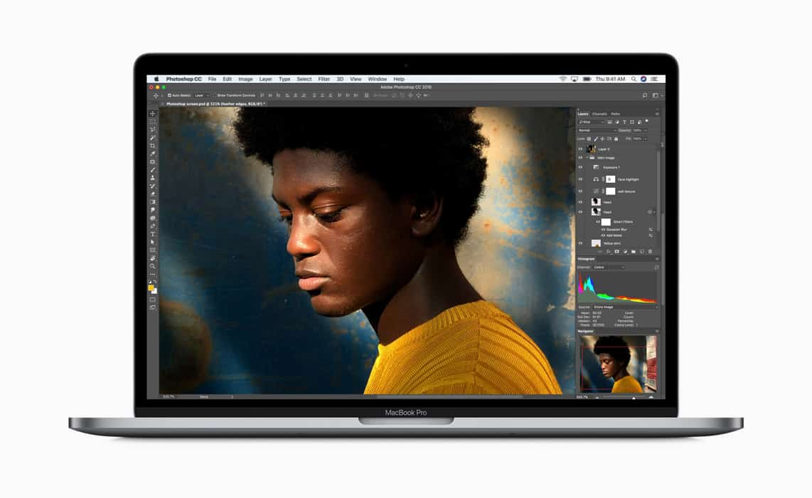"The new MacBook Pros feature True Tone technology for ""a more natural viewing experience."""