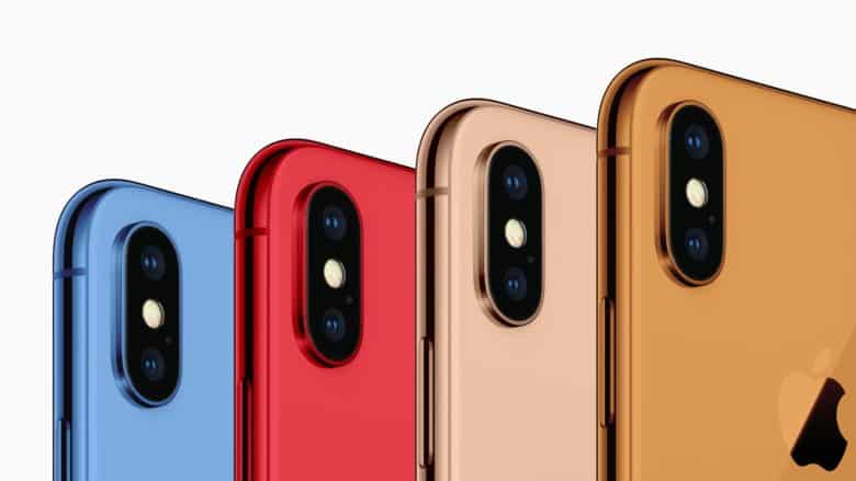 2018 iPhone color options