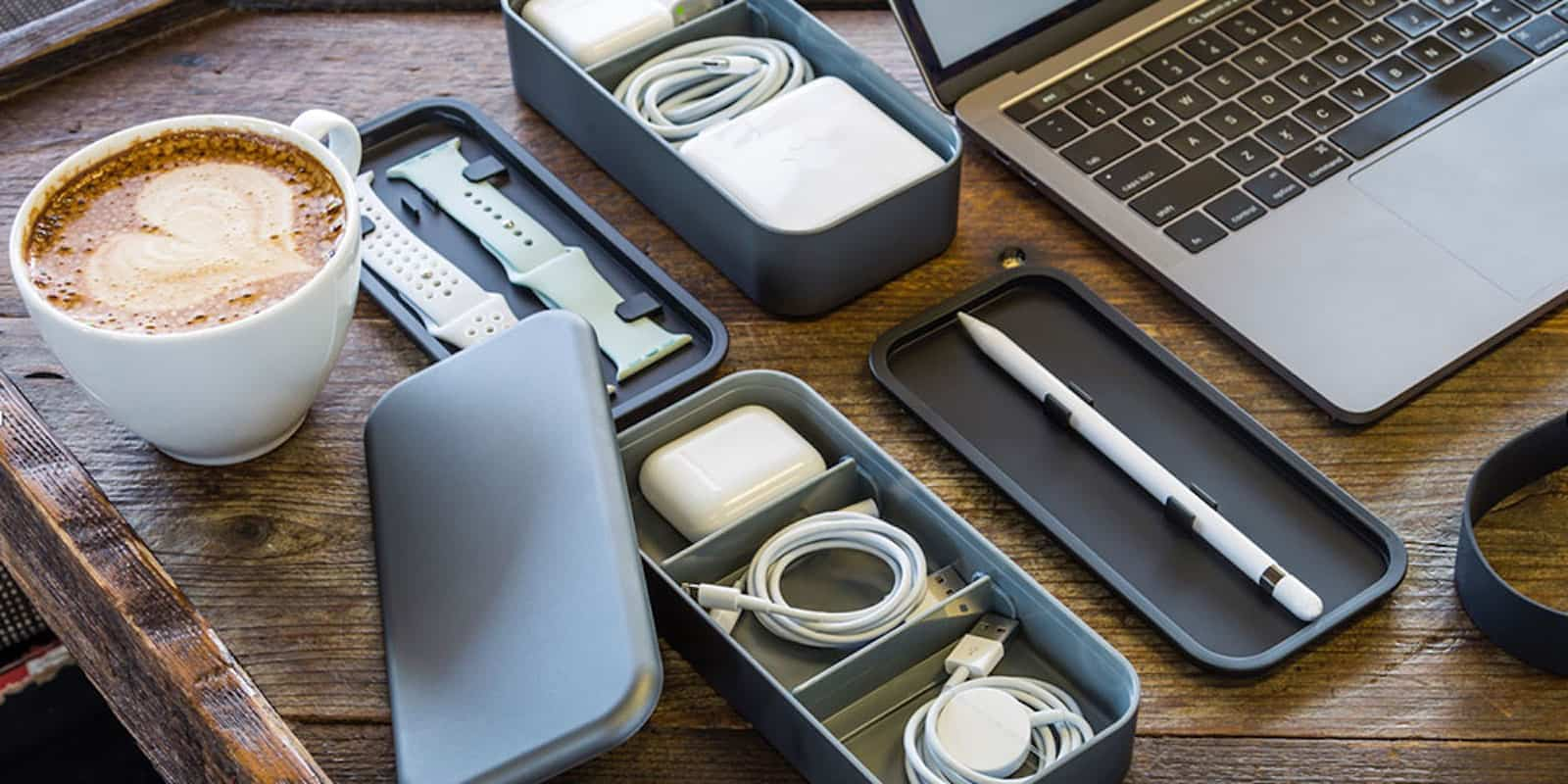 Instead of just shoving your Apple extras into a drawer or pocket, keep them in this sleek, modular, Japanese-inspired organizer.