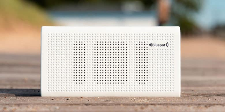 This slim Bluetooth speaker does double duty as a high capacity portable battery.