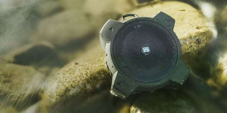 This super tough, waterproof speaker is ideal for any camping trip or day at the beach.