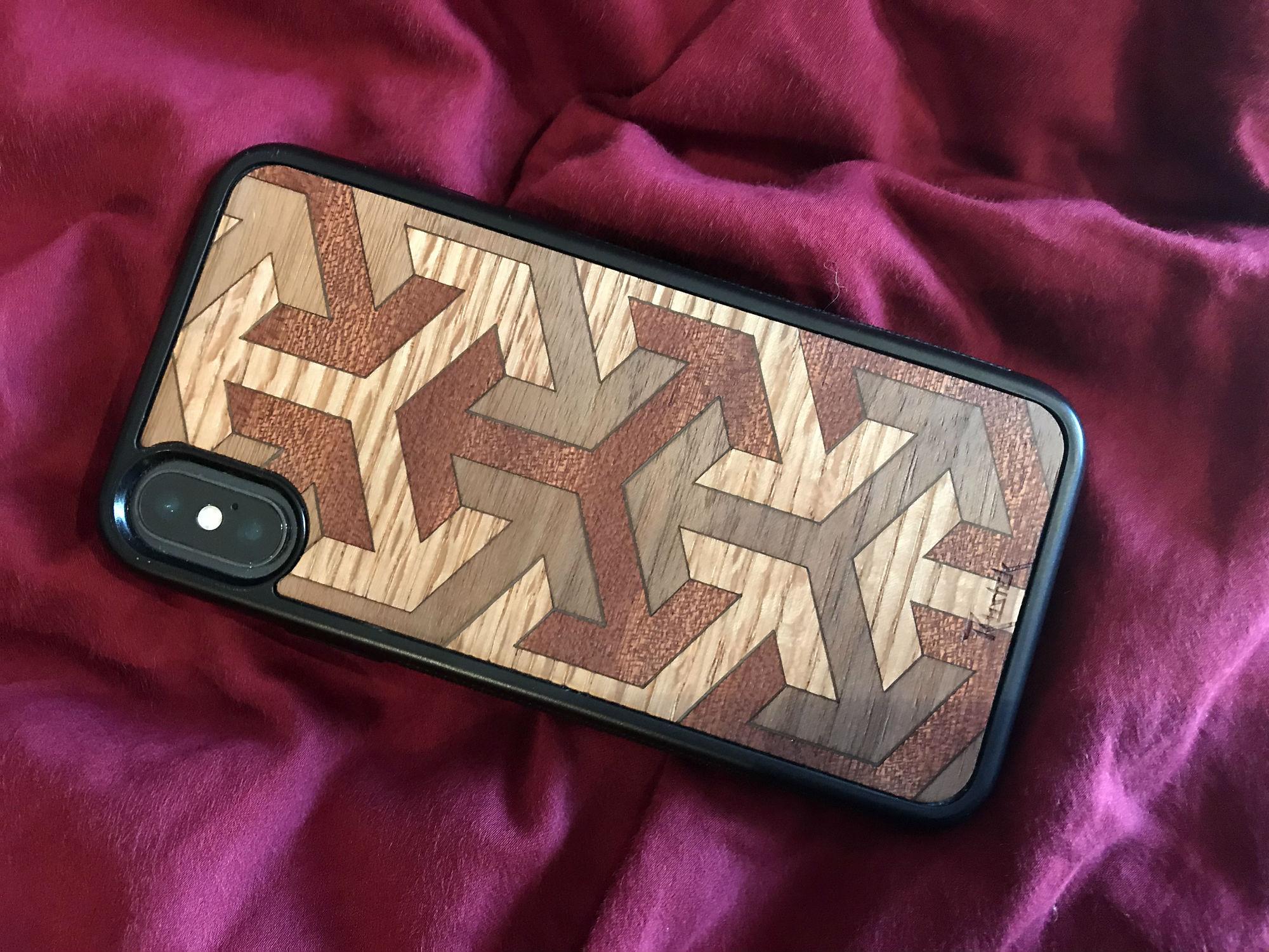 Rustek Axis Inlay wooden iPhone case